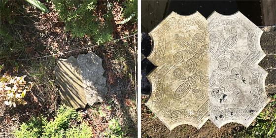 rozdíl mezi impregnovanou a neoštřenou stranou betonové dlažby